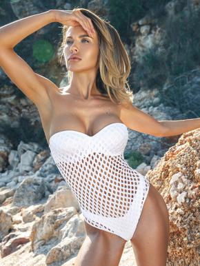 Слитный купальник бандо Jolidon - WHITE DIVA