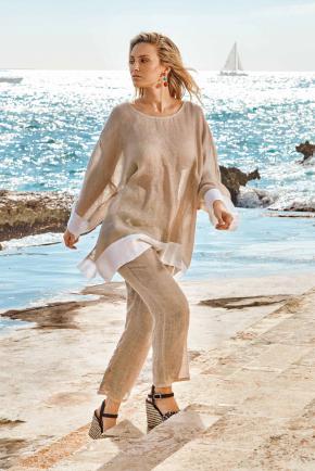 Брюки пляжные Iconique - FLORA, 100% лён