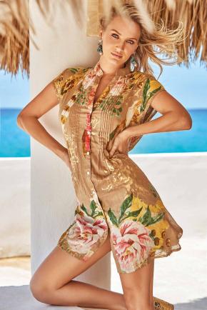 Пляжная блуза Iconique - MALIBU, 100% хлопок