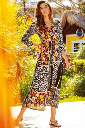 Пляжное платье-рубашка Iconique - EMMA, 100% хлопок