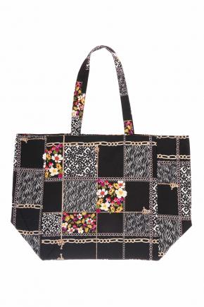 Пляжная сумка из хлопка ICONIQUE - FLORA
