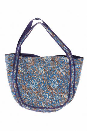 Пляжная сумка из хлопка ICONIQUE - Blue