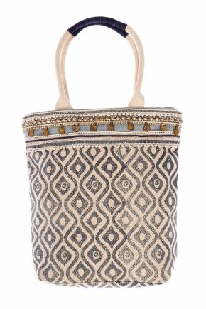 Пляжная сумка с узором и декором ICONIQUE