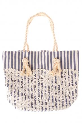 Пляжная сумка из хлопка ICONIQUE - LACE