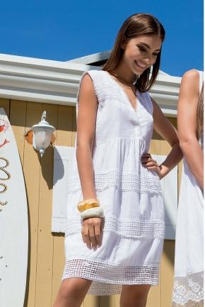 Пляжное платье с перфорацией ICONIQUE, 100% хлопок