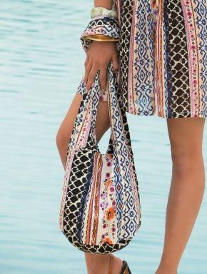 Пляжная сумка с узором, 100% хлопок