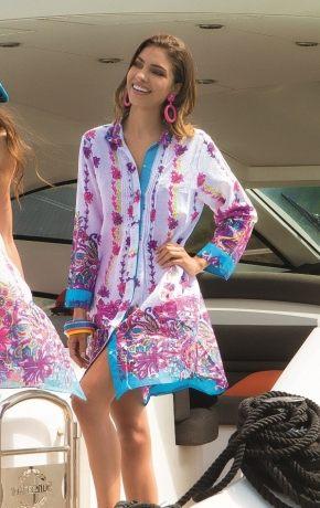 Пляжная блуза ICONIQUE 053, 100% хлопок