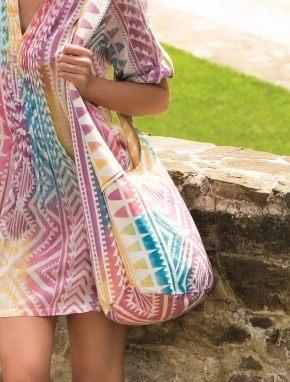Пляжная сумка с принтом Pastel, 100% хлопок