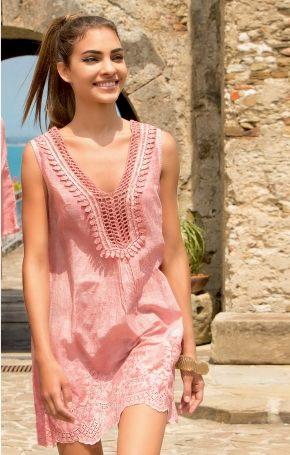 Пляжное платье Iconique 071 pink, 100% хлопок