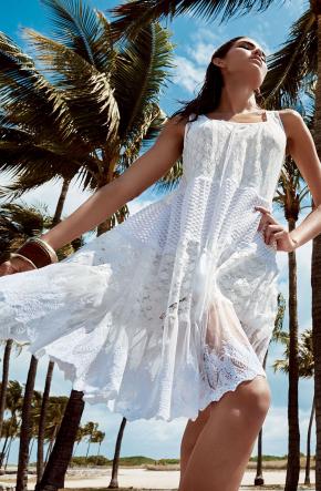 Пляжное платье с гипюром Iconique - AJURE LUX