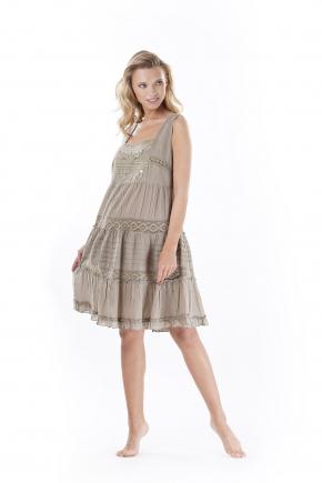 Пляжное платье мини Iconique 002, 100% хлопок
