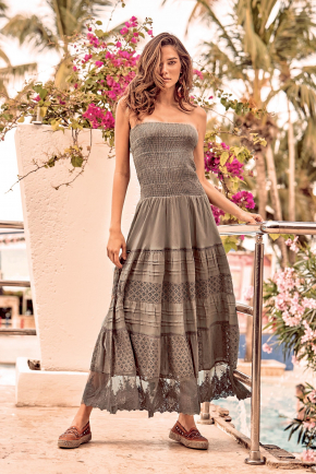 Пляжное платье бандо ICONIQUE, 100% хлопок
