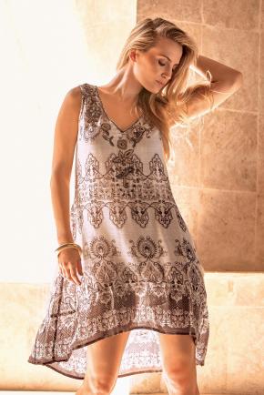 Пляжная туника-платье Iconique - SAFARI choco