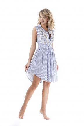 Пляжная блуза мини Iconique - LIGHT BLUE
