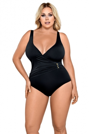 Слитный купальник plus size LORIN - BLACK, чашки С-Е