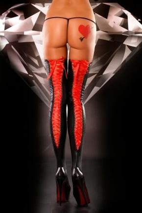 Чулки со шнуровкой Lolitta - Lacing RED