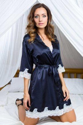 Халат кимоно Mia-Mia - Marta, navy blue