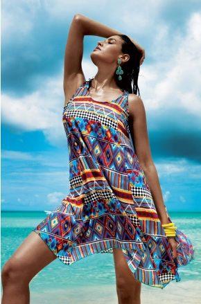 Пляжное платье CURACAO, хлопок + шелк