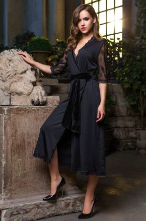 Длинный халат  Mia-Mia - Elegance de Lux