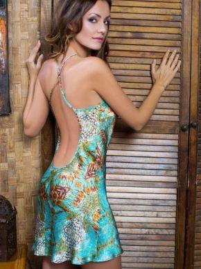 Сорочка мини MIA-MIA - Adriana, 100% шелк