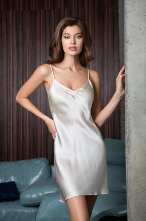Сорочка с вырезом ROSEMARY ivory, 100% шелк
