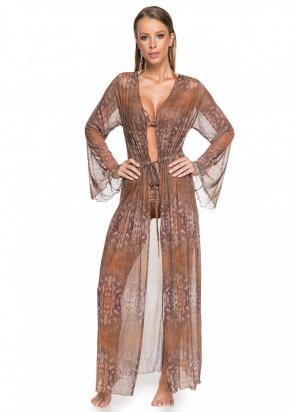 Пляжная блуза макси LARISSA MINATTO - CAMEL