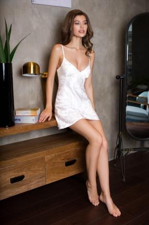 Сорочка-платье с вырезом MIA-MIA - EVA, 100% шелк