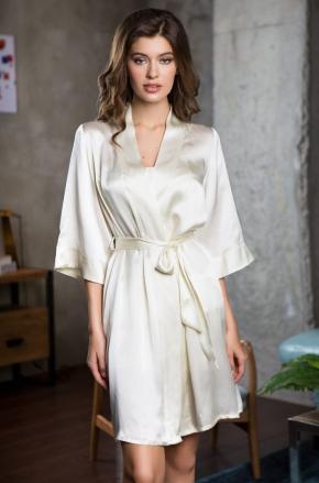 Халат кимоно Mia-Mia - ROSEMARY ivory, 100% шелк